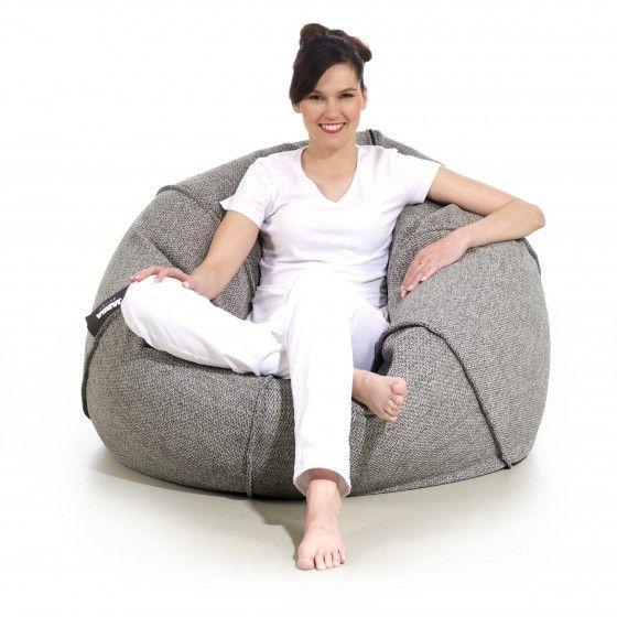 Pufa Baloon Odcienie Szarosci Jabba Bean Bag Chair Design Furniture