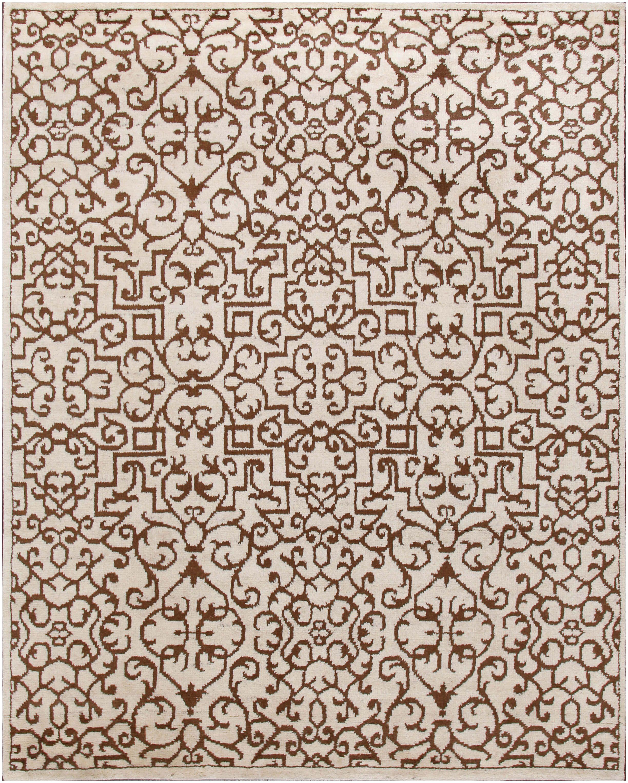 Rugsville Moroccan Vintage Style Beige Brown Wool Rug 8x10 37047 Buy Area Rugs Rugs 8x10 Rugs