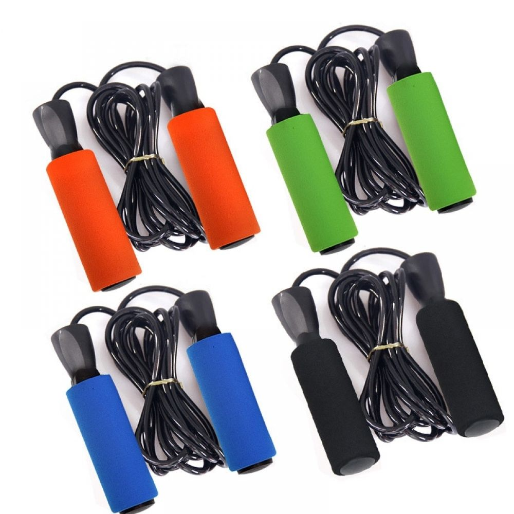 Fitness skipping rope speed jump rope soft handle boxing