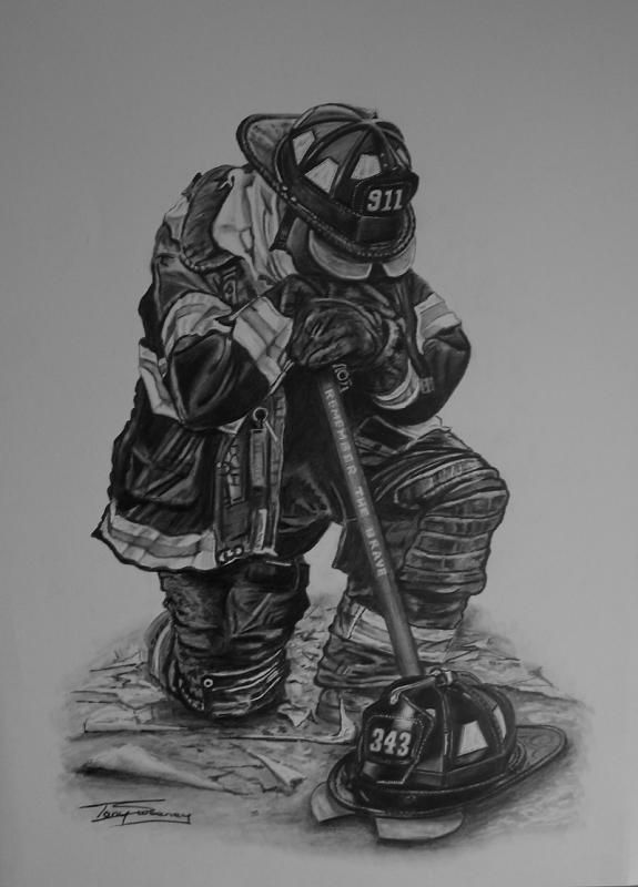 sketches of firefighters fdny firefighter wip wetcanvas