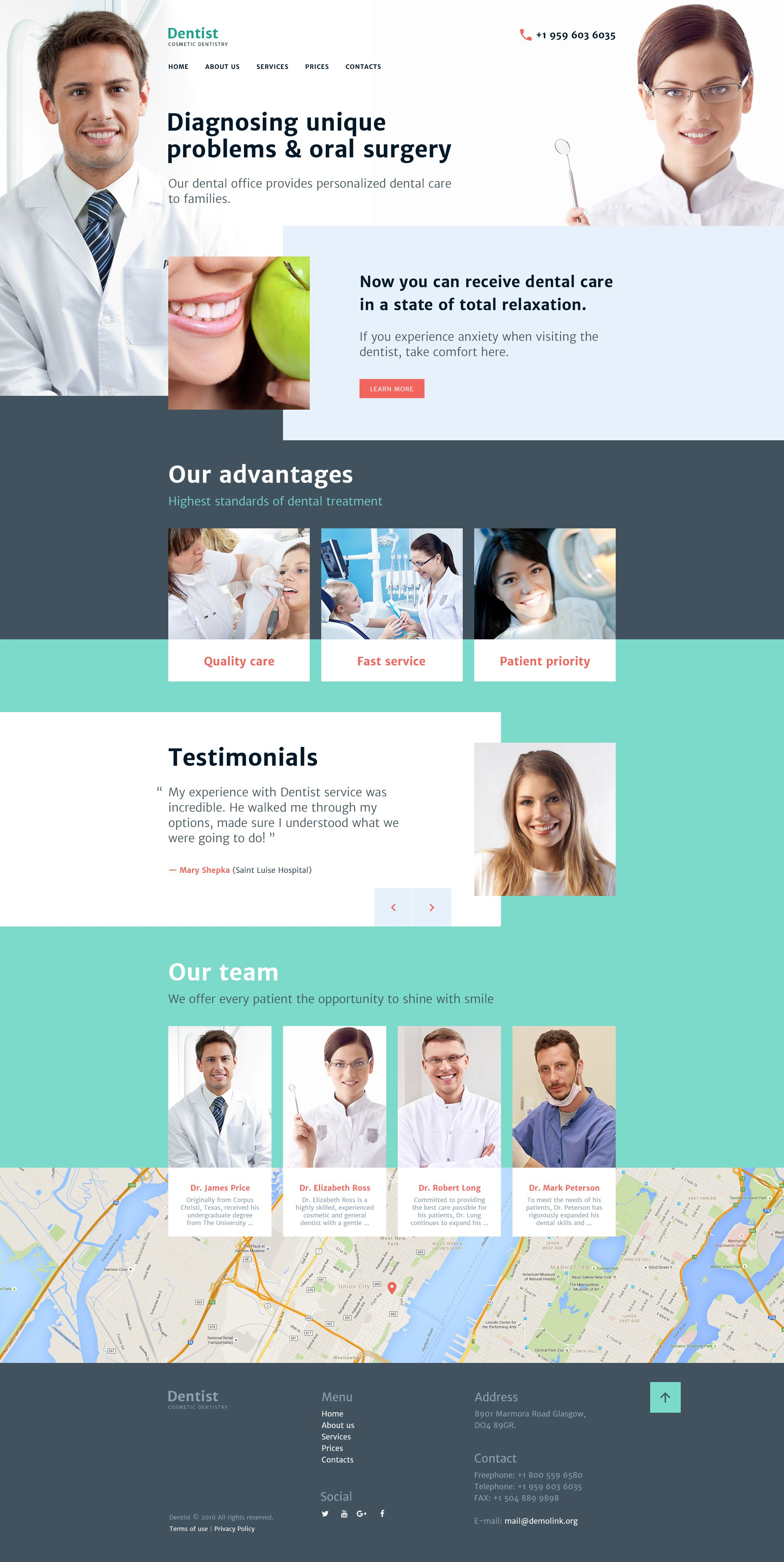 Cosmetic Dentistry Website Template Template And Website - Dentist website template