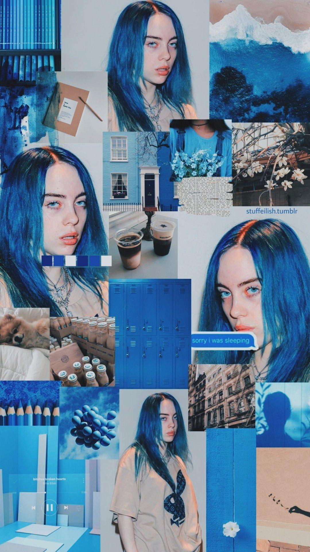 Billie Eilish Wallpaper Blue Hair Billie Billie Eilish Blue Aesthetic
