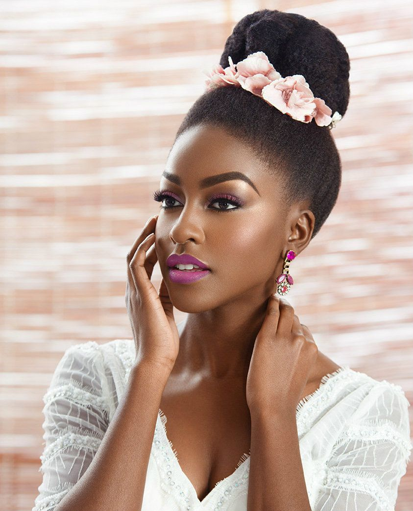 get to know natural hair wedding hairstyles 2017 | high bun