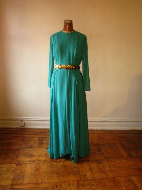 1960s Silk Gown