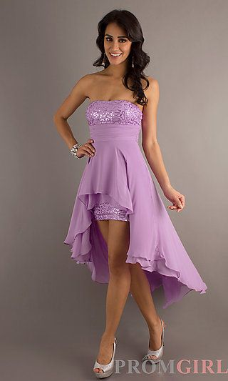 Strapless High Low Dress at PromGirl.com cute!!