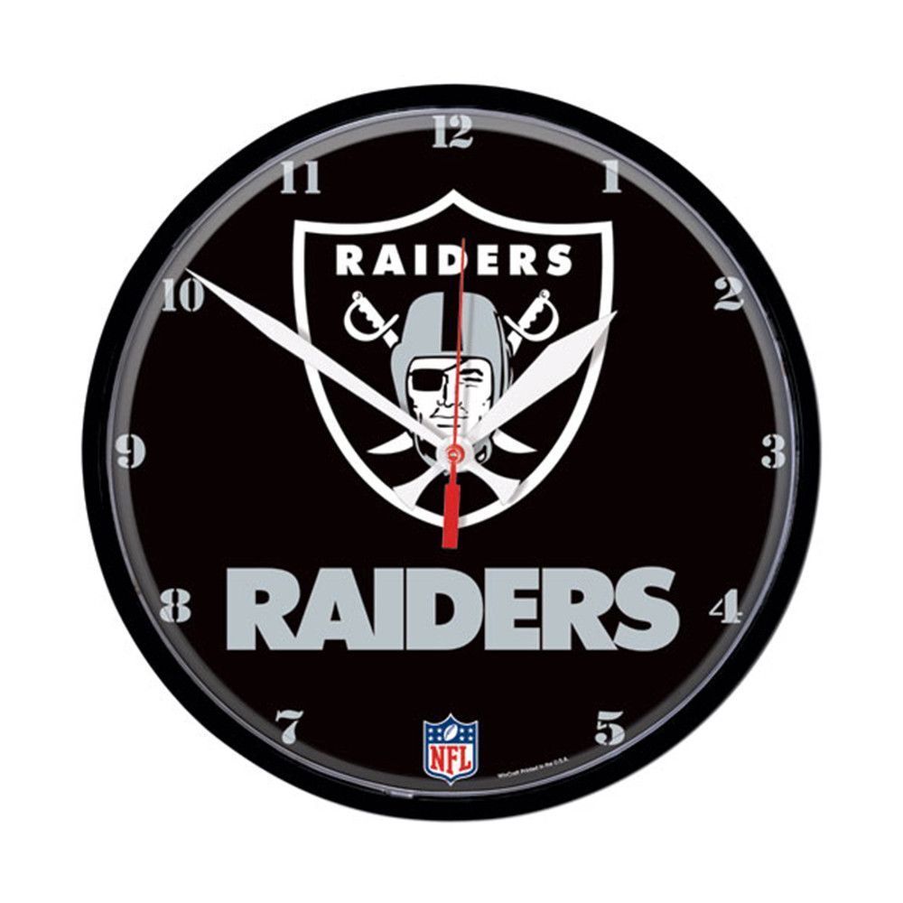 Oakland raiders nfl round wall clock products oakland raiders nfl round wall clock amipublicfo Gallery