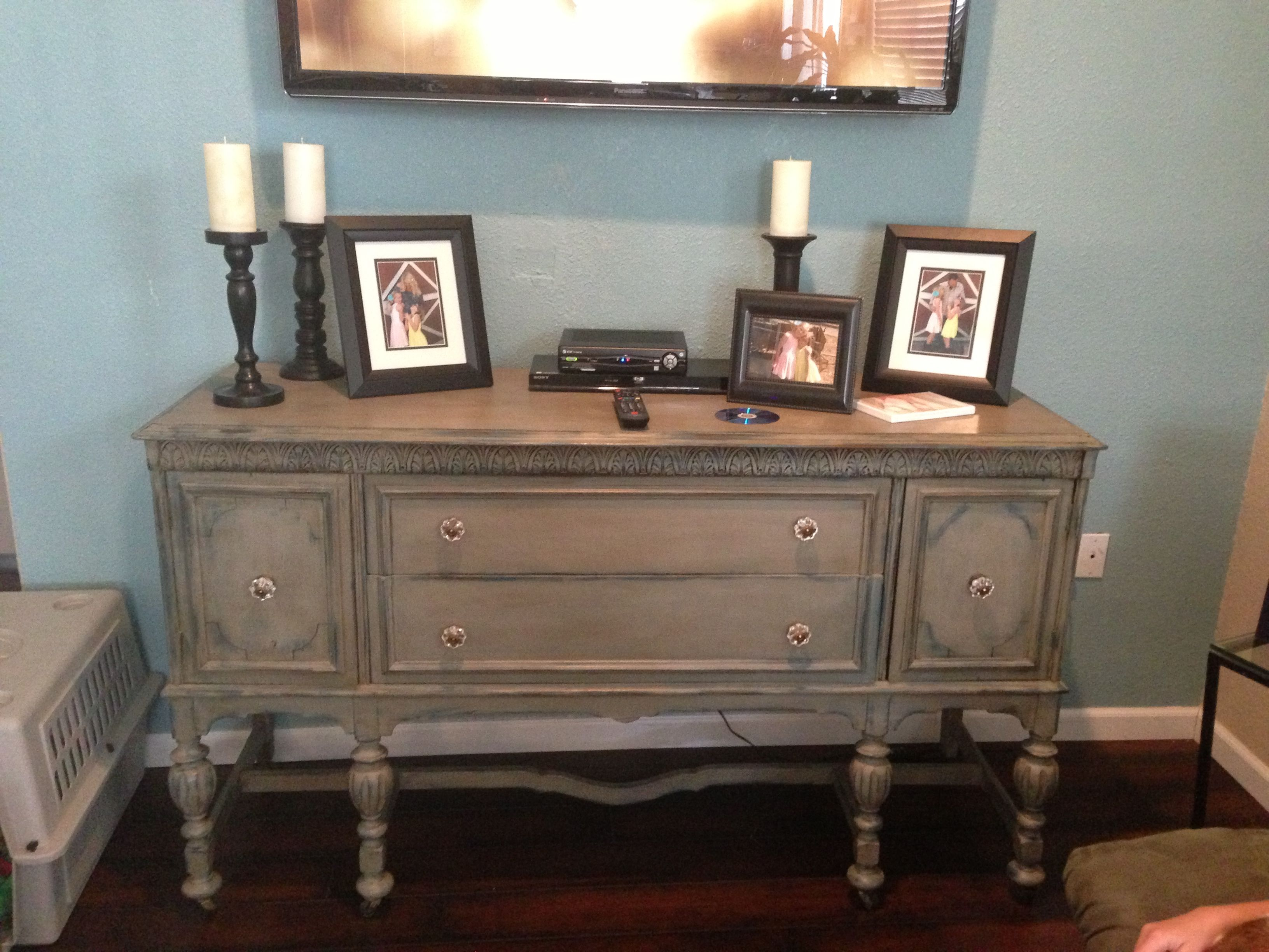 Painted buffet table furniture - Annie Sloan Painted Buffet