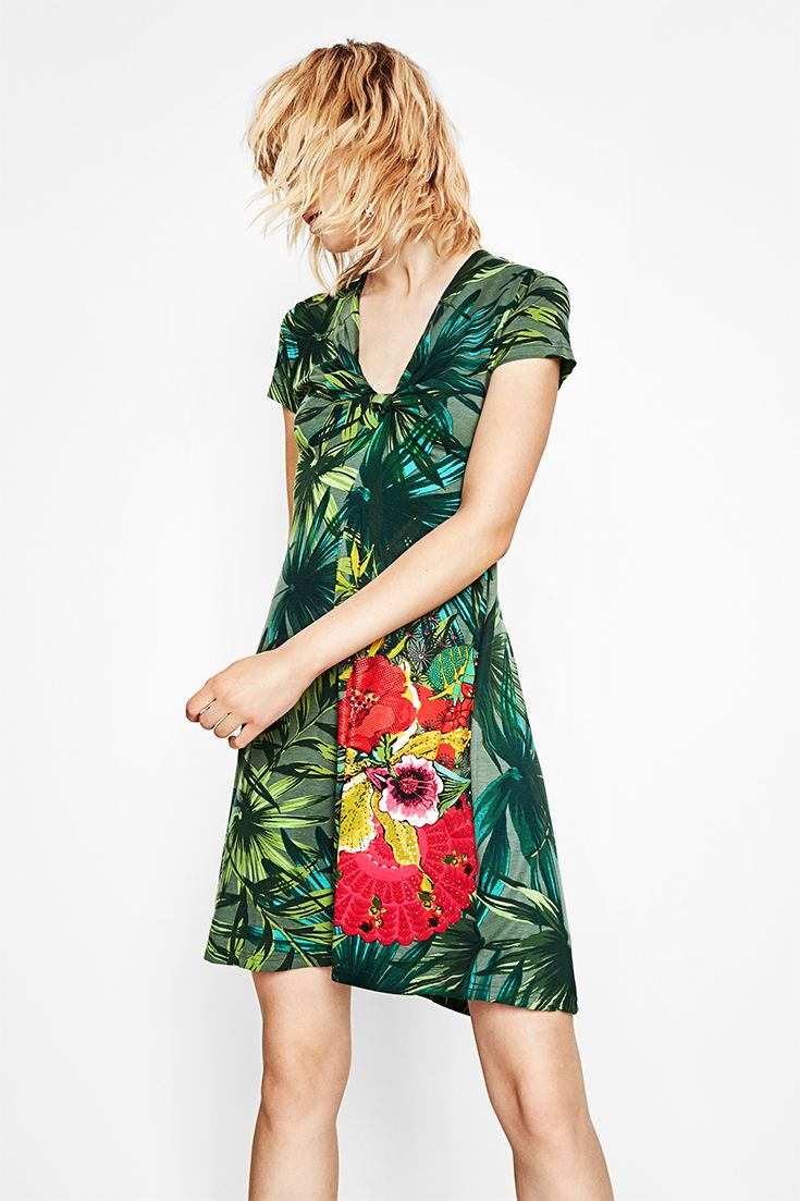 All the freshness of spring and summer in this one Desigual green dress! 391bee125ee