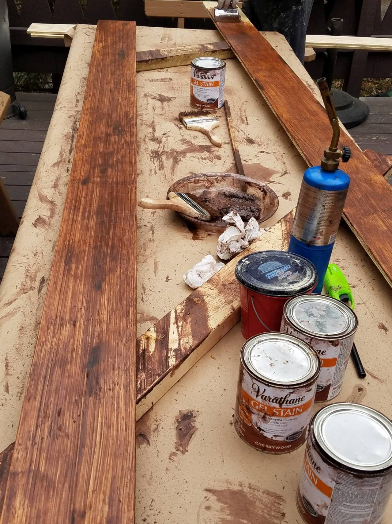 Diy rustic wide plank plywood flooring in 2020 wide