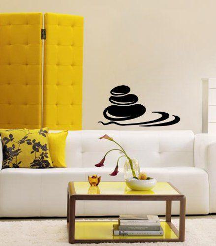Housewares Vinyl Decal Spa Stones Sign Beauty Salon Decor Home Wall ...