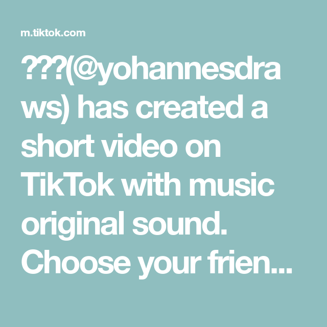 Yohannesdraws Has Created A Short Video On Tiktok With Music Original Sound Choose Your Friends Wisely Fyp Naruto The Originals Greenscreen Music