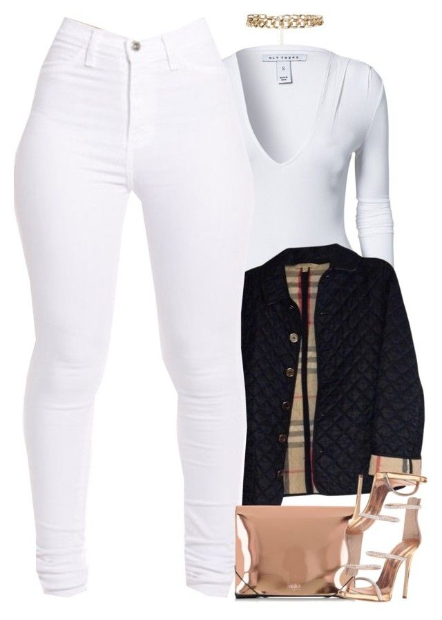 """""""Untitled #1615"""" by power-beauty ❤ liked on Polyvore featuring New Look, NLY Trend, Burberry, MM6 Maison Margiela and Giuseppe Zanotti"""
