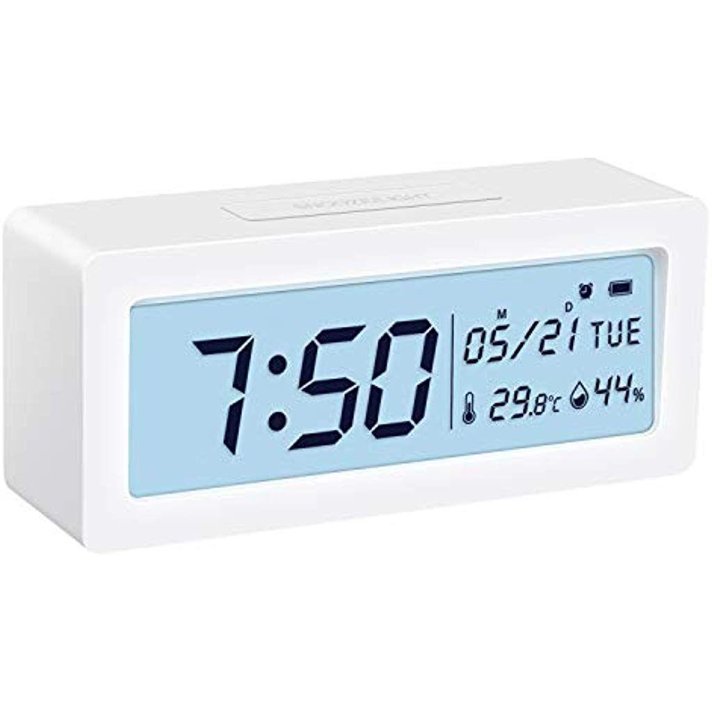 Brifit Digital Alarm Clock Battery Operated Clock Bedside Non