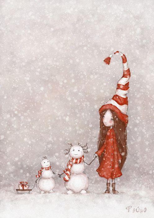 Sur La Route De Noël : route, noël, Route, Noël, Chezosiris, Illustration, Noel,, Dessin, Image