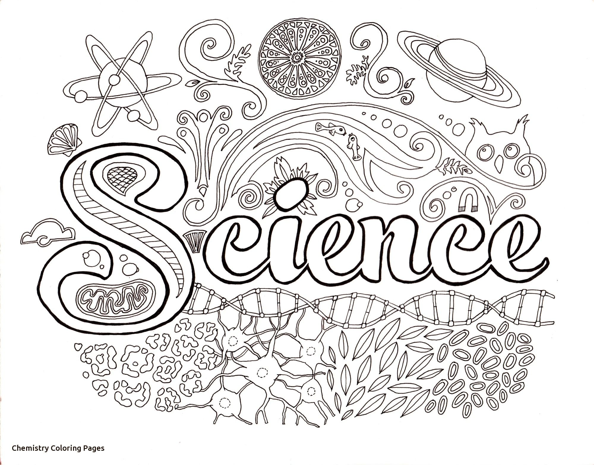 Value Chemistry Coloring Pages Soar Free Printable Science