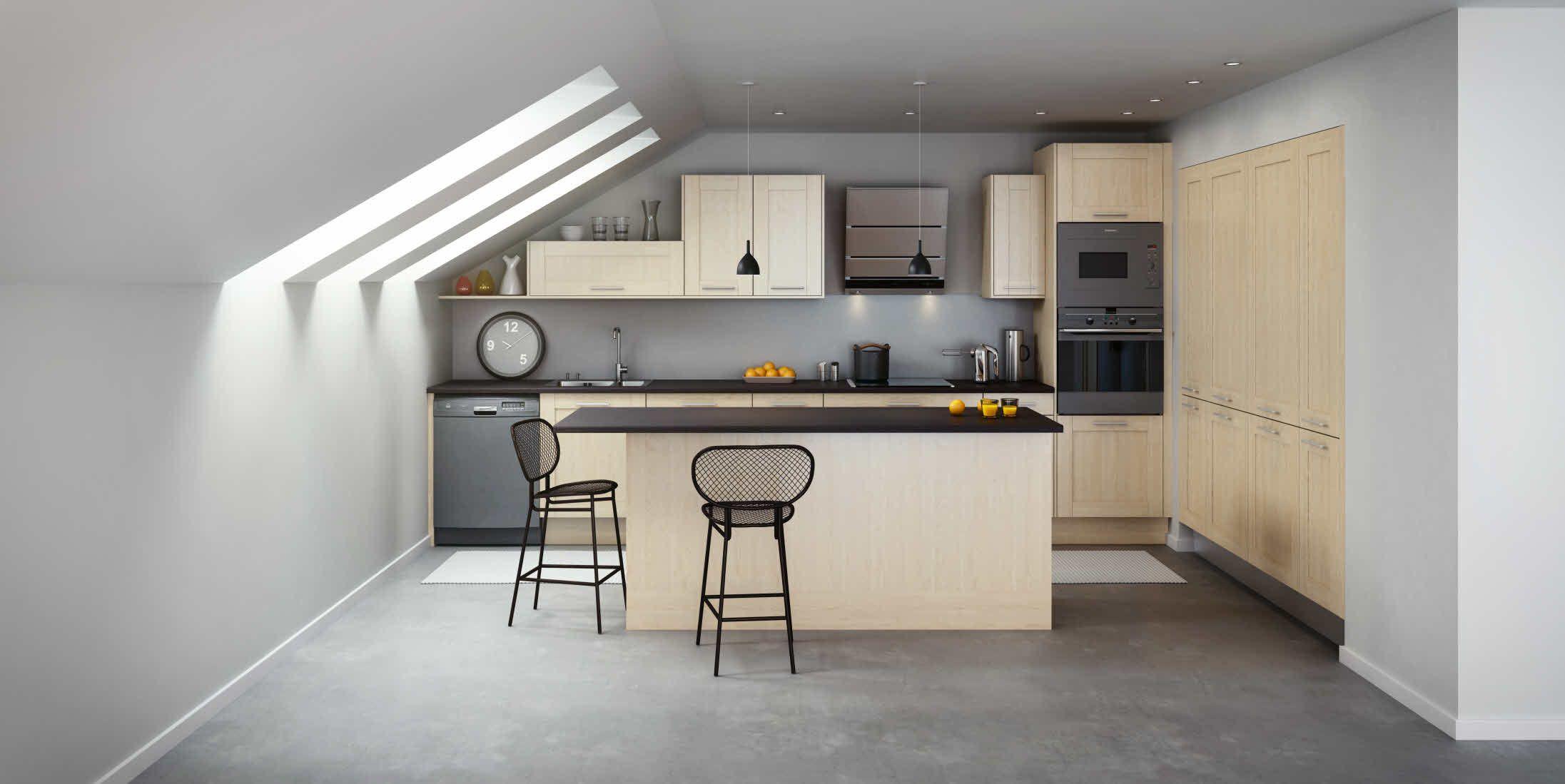 cuisine hygena mod le strandra bouleau des cuisines au naturel pinterest. Black Bedroom Furniture Sets. Home Design Ideas