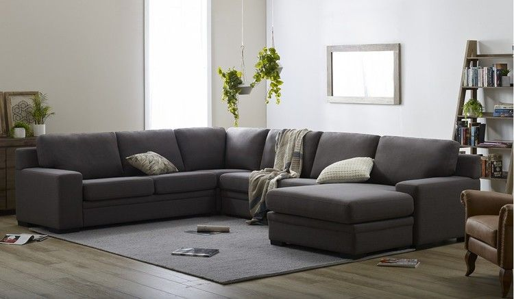 The Willow 6 Seater Corner Lounge With Reversible Chaise In Fabric Let You Change The Look Of Your Lou Sectional Sofa Small Room Bedroom Fabric Sectional Sofas