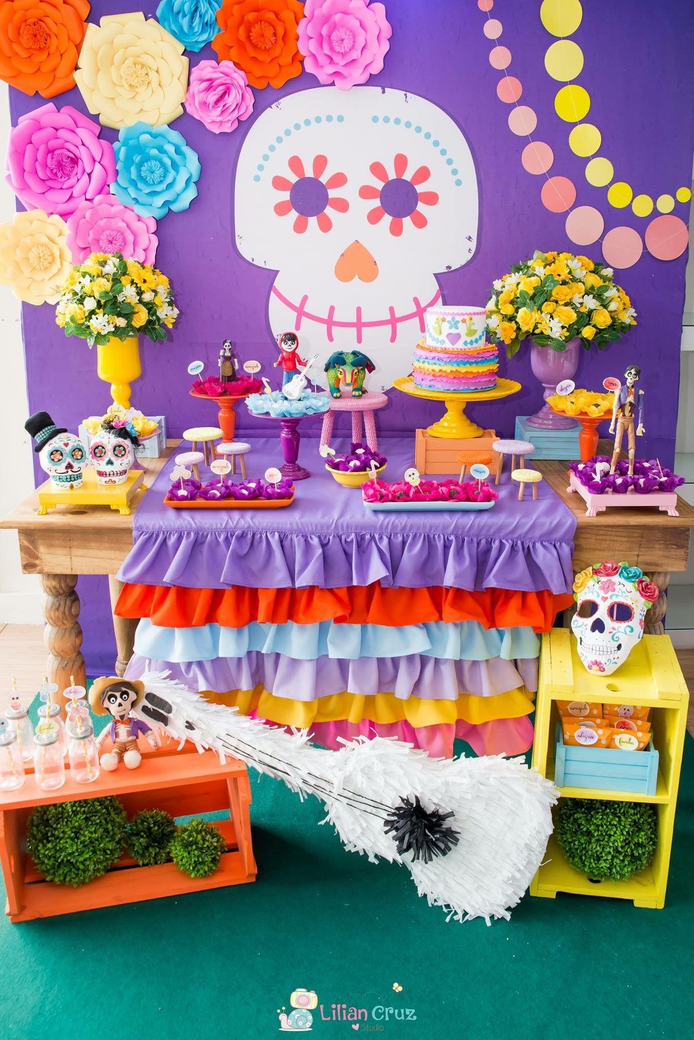 Dia De Los Muertos Fiesta De Coco Fiesta De Cumpleaños Infantil Decoracion De Cumpleaños