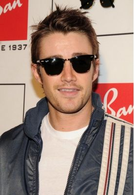 3573377944f1d Robert Buckley wears Ray-Ban s Clubmaster 49mm Sunglasses in black ...