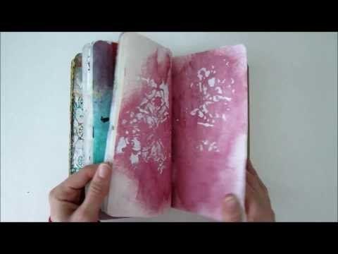 Mini Art Journal con gelli printing plate - Tutorial - Lartevistadame - YouTube