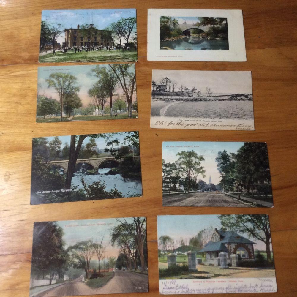 8 vintage postcard norwalk connecticut vintage postcard