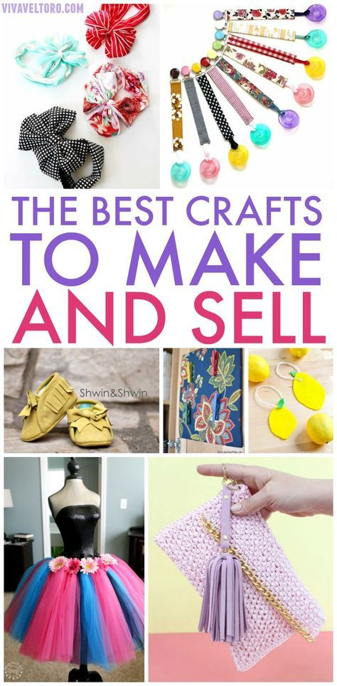 Do something you enjoy and turn a profit! Here are the BEST crafts to make and sell online or at local craft fairs to earn extra money. #craftstosell