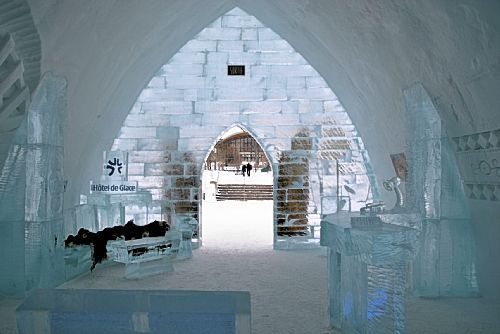 Since its debut in 2001, more than 700,000 people have visited Hotel de Glace in Quebec City, the only hotel in North America made completely of ice and snow/ Gretchen McKay