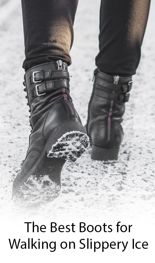 Boots for Walking on Slippery Ice