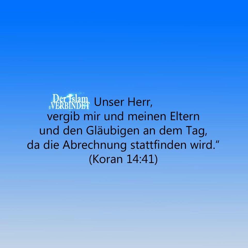 Barmherzigkeit L Walidin Mama Papa Quran 14 41 Barmherzigkeit Vergebung Koran