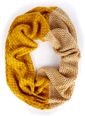 Sole Society Color Block Knit Infinity Scarf