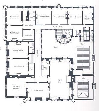 Cornelius Vanderbilt Ii Residence 1 West 57th Street New York City On The Grand Army Plaza South Third Floor Mansion Floor Plan Floor Plans Mansion Plans