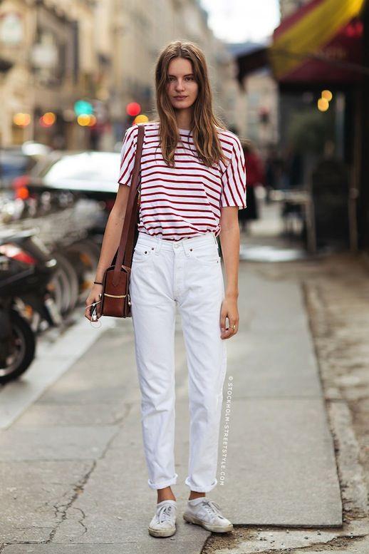 ad4afd27ea0b07 30 Fresh Ways To Wear White Jeans (via Bloglovin.com )