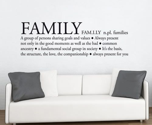Quote Wall Decal Family Definition Wall Decals Home WallArt - Wall decals about family