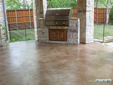 Lovely Sealer Is A Very Important Component Of Decorative Concrete, Including This Patio  Concrete Stain Project