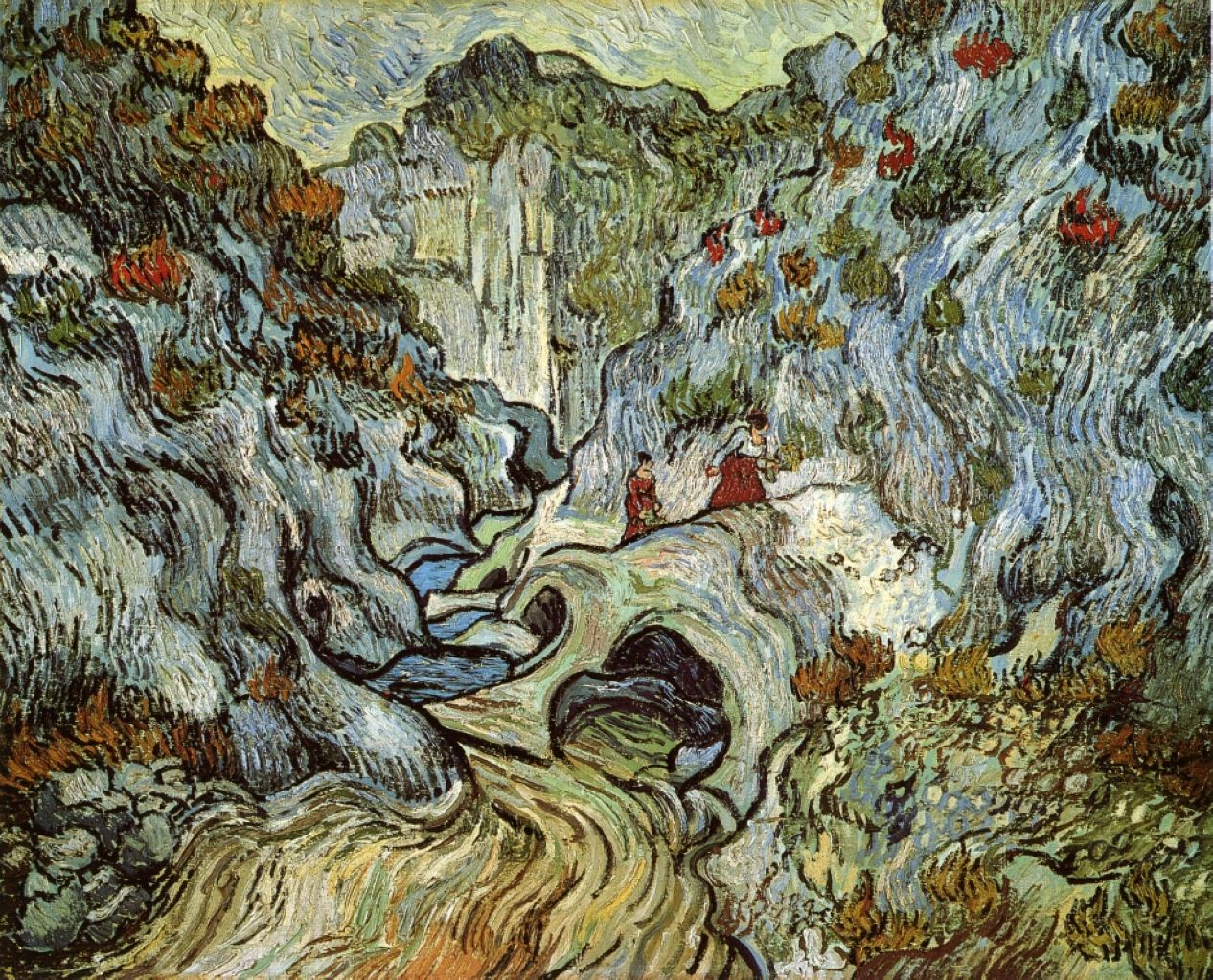 The ravine of the peyroulets vincent van gogh painted for Van gogh paintings locations