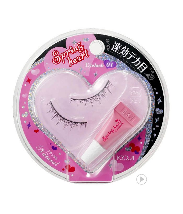 Spring Heart Eyelash 01 Natural