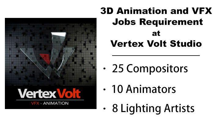 Animation And Vfx Jobs Opening At Vertex Volt Studios Job Opening Vertex Job