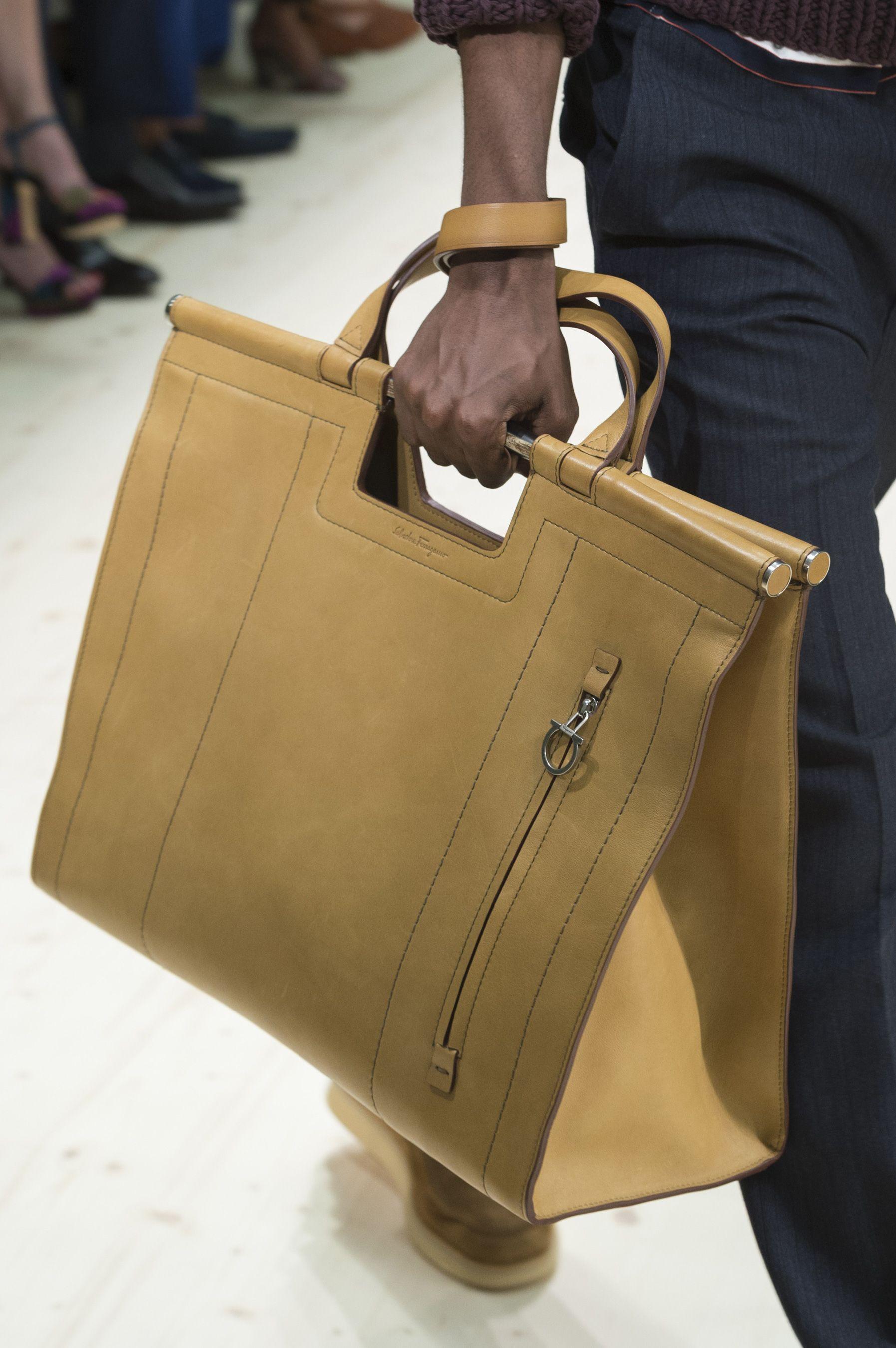 a60d4c7ca01 Salvatore Ferragamo Spring 2018 Men s Fashion Show Details -  purse  handbag   pocketbook The Impression