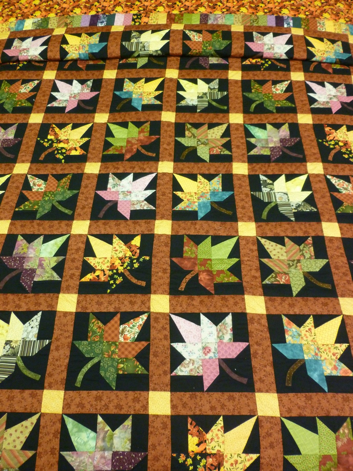 Autumn Splendor Quilt King Family Farm Handcrafts Fall Quilts Quilts Amish Quilts