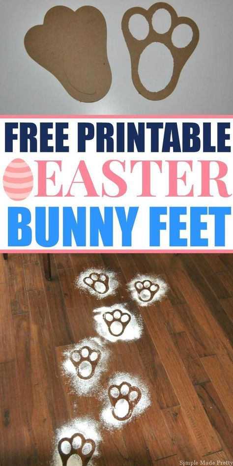 Free Printable Easter Bunny Feet Template Easter Ideas Easter