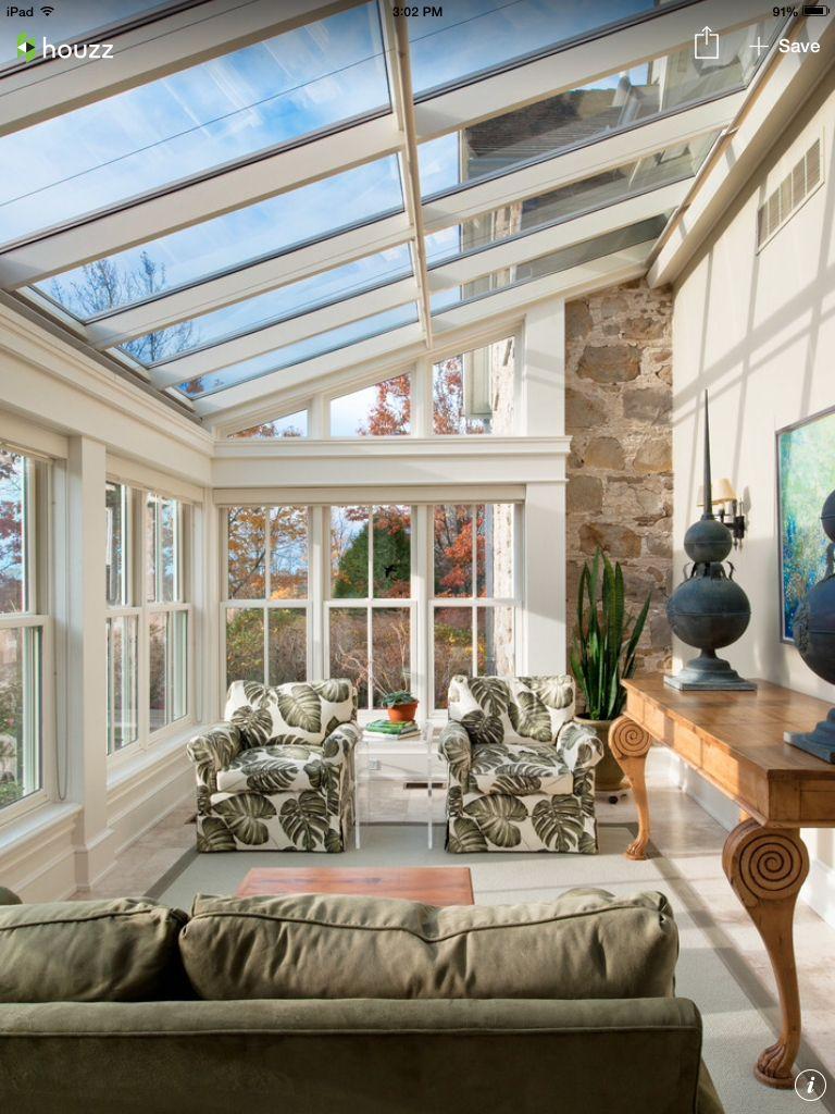 Open airy sun room | Sunroom designs, Sunroom decorating ...