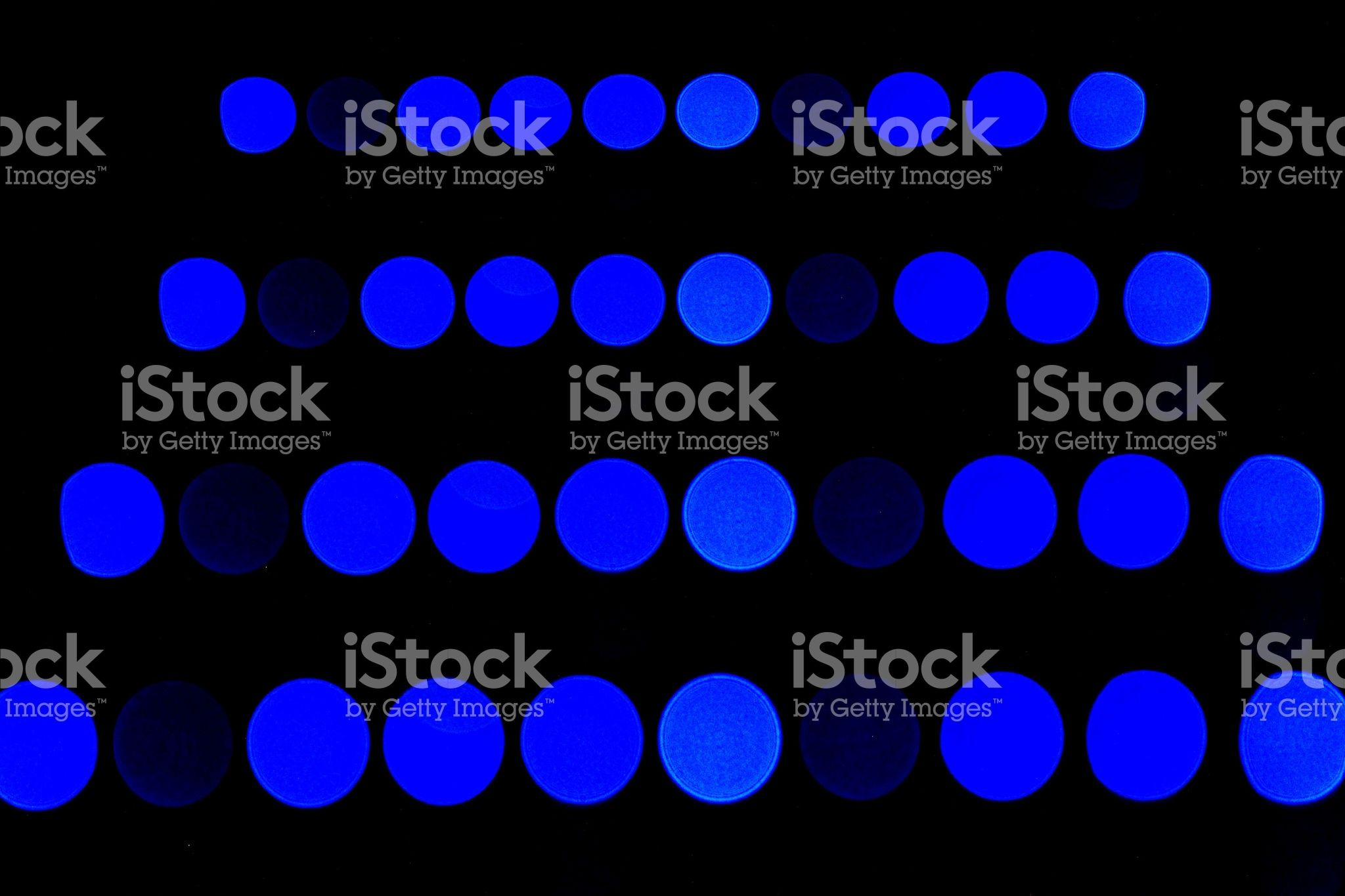 Blue Bokeh Lights royalty-free stock photo