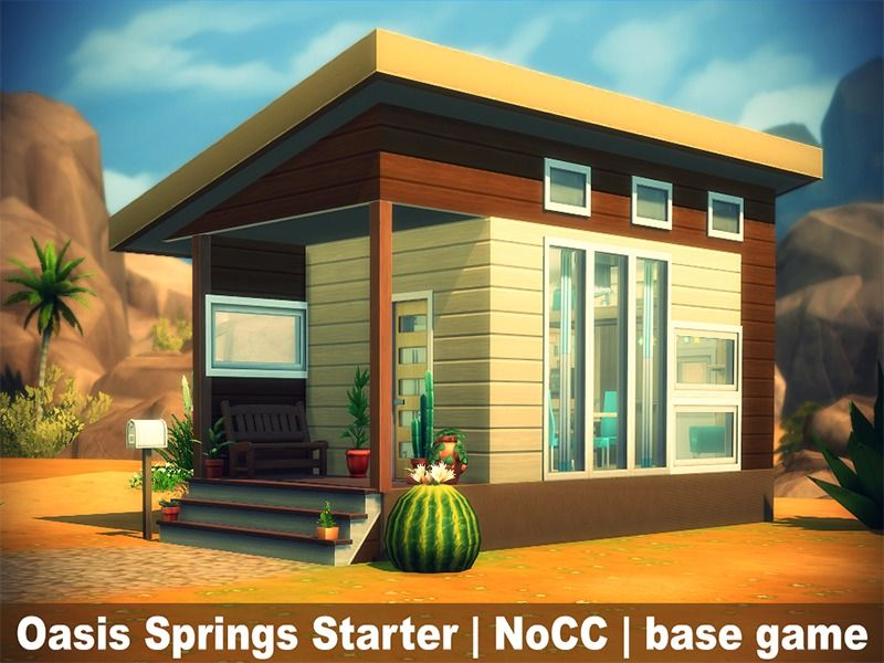 Tiny Oasis Springs House Suitable For Two Sims Found In Tsr