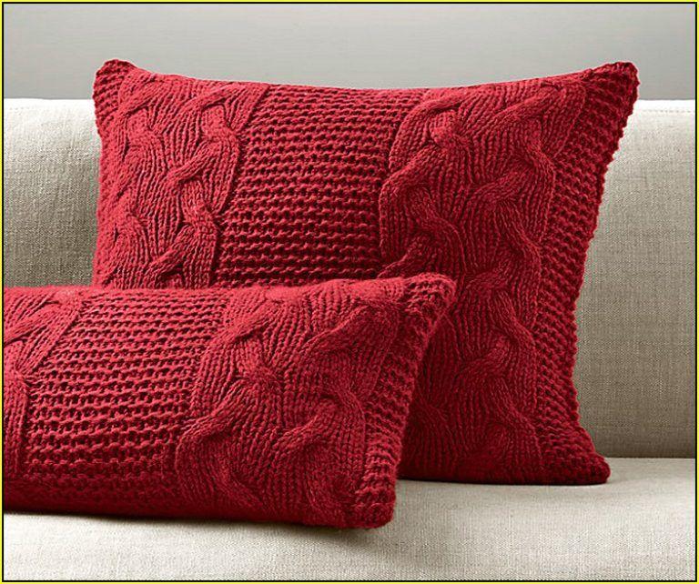 Fancy Design Ideas For Cable Knit Throw Pillow Red Cable Knit Pillow Cover Home Design Ideas Ivchic Home Design Almofadas De Trico Mantas De La Mantas De Trico