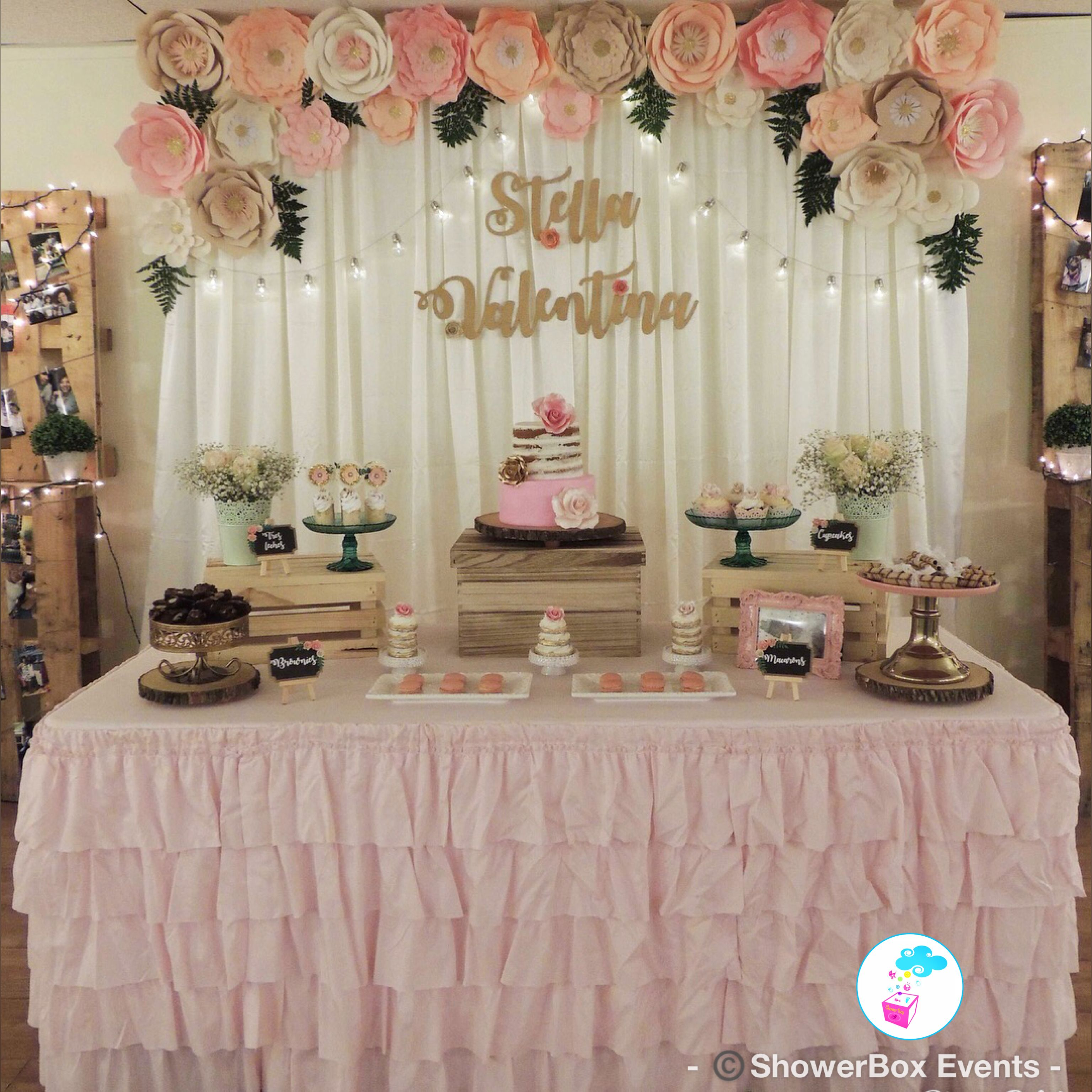 Floral Vintage Baby Shower Welcome Baby Showerbox Events 2017 Find Us On Fb Page Showe Baby Shower Vintage Baby Shower Decorations Decoracion Baby Shower