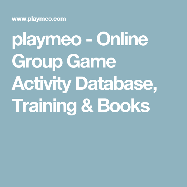 Playmeo Online Group Game Activity Database Training