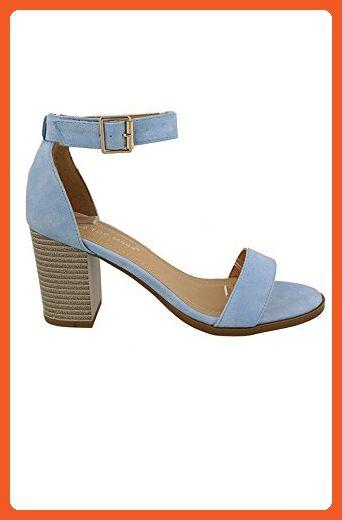 1b57460add4bd Top Moda Myth-1 Women's Mary Jane Strappy Stacked Chunky Heel ...