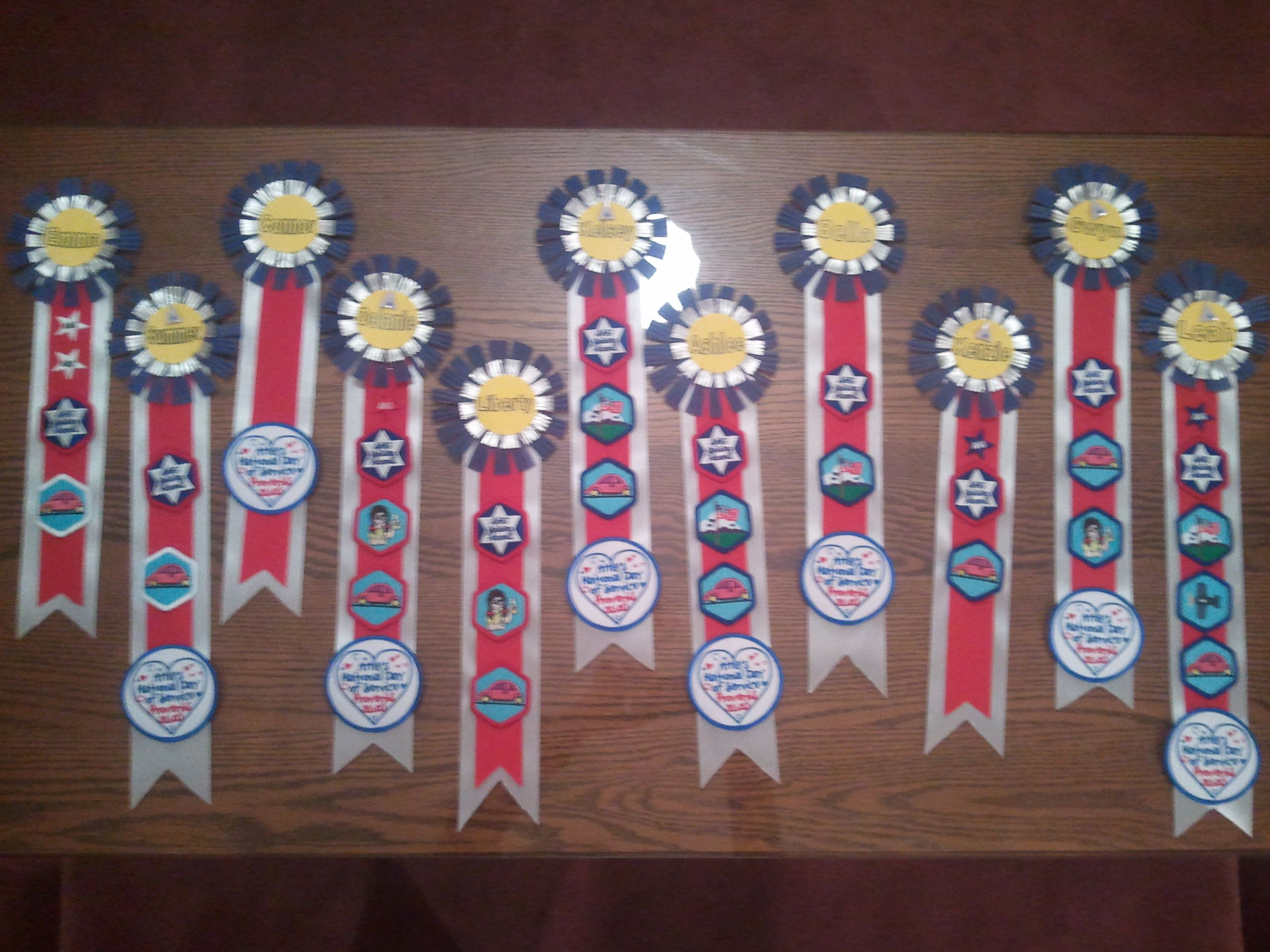 We Made Ribbons To Give The Girls Their American Heritage