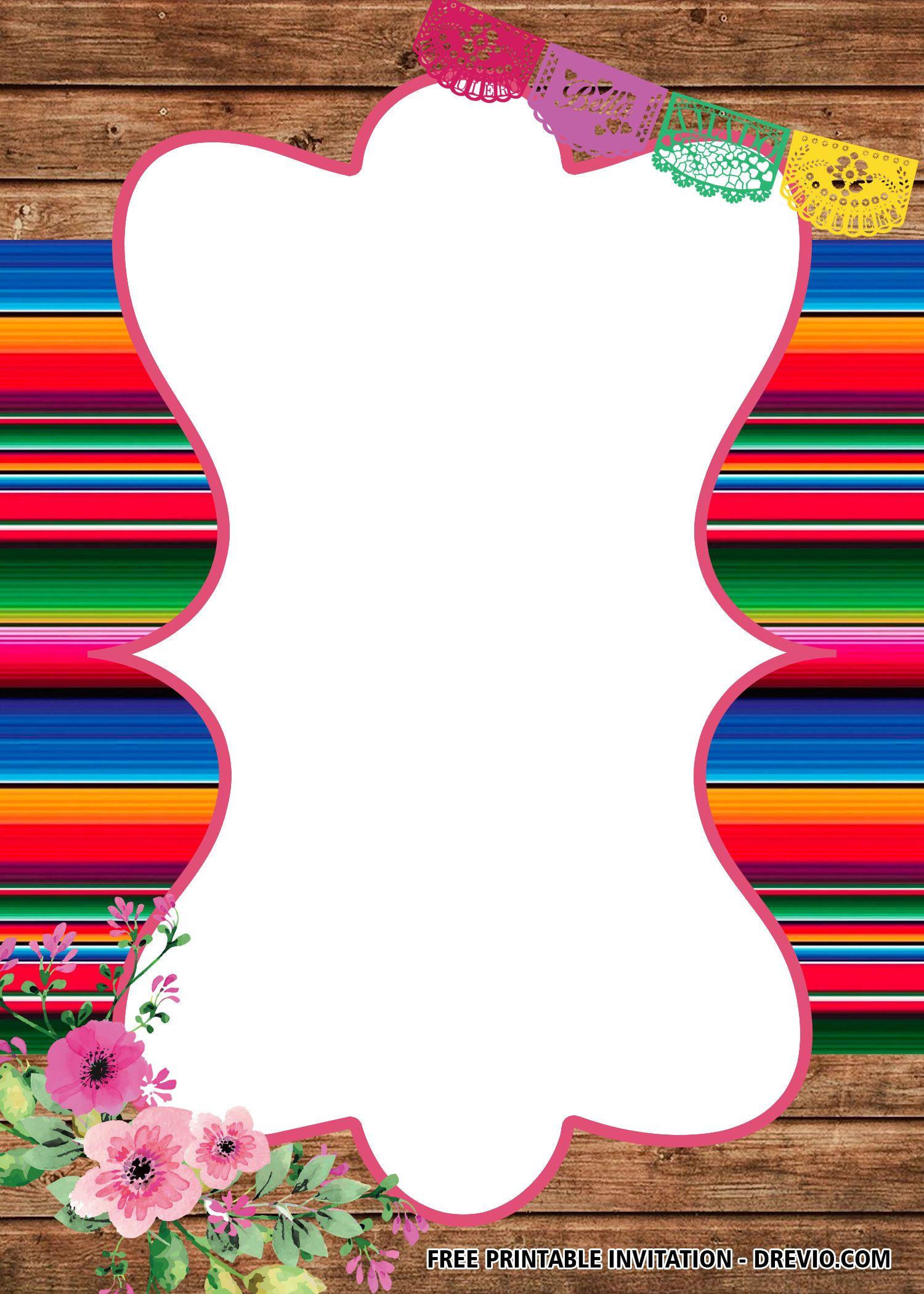 Free Fiesta Baby Shower Invitation Templates Fiesta Baby Shower Invitations Printable Birthday Invitations Fiesta Invitations