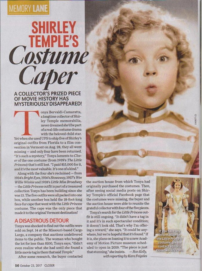 """Cover Poster of SHIRLEY TEMPLE 1935 Au Printemps 12/""""x16/"""" French Toy Catalogue"""
